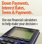 Use our Financial Calculators to help make your decision.